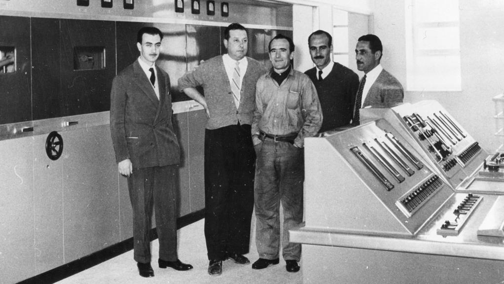 Θεμελίωση του νέου ραδιοφωνικού πομπού του ΕΙΡ στο Μπογιάτι – 17 Ιανουαρίου 1953
