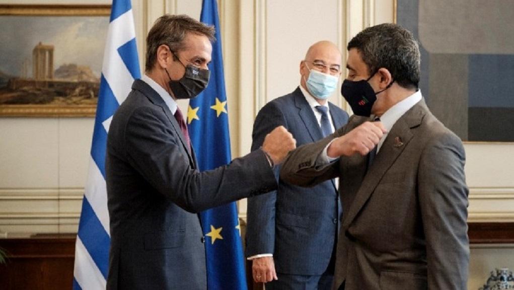 Συνάντηση του πρωθυπουργού Κυρ. Μητσοτάκη με τον Υπ.Εξ. των ΗΑΕ