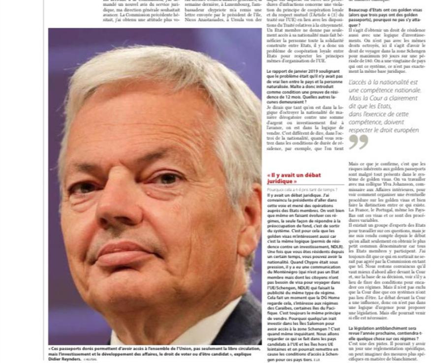 ΕΕ: «Ζητάμε την ολοκληρωτική κατάργηση των χρυσών διαβατηρίων»