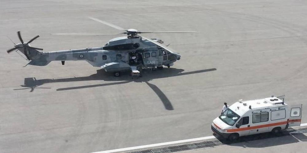 Τραυματίες τροχαίου στη Σκόπελο διακομίζονται στο Βόλο