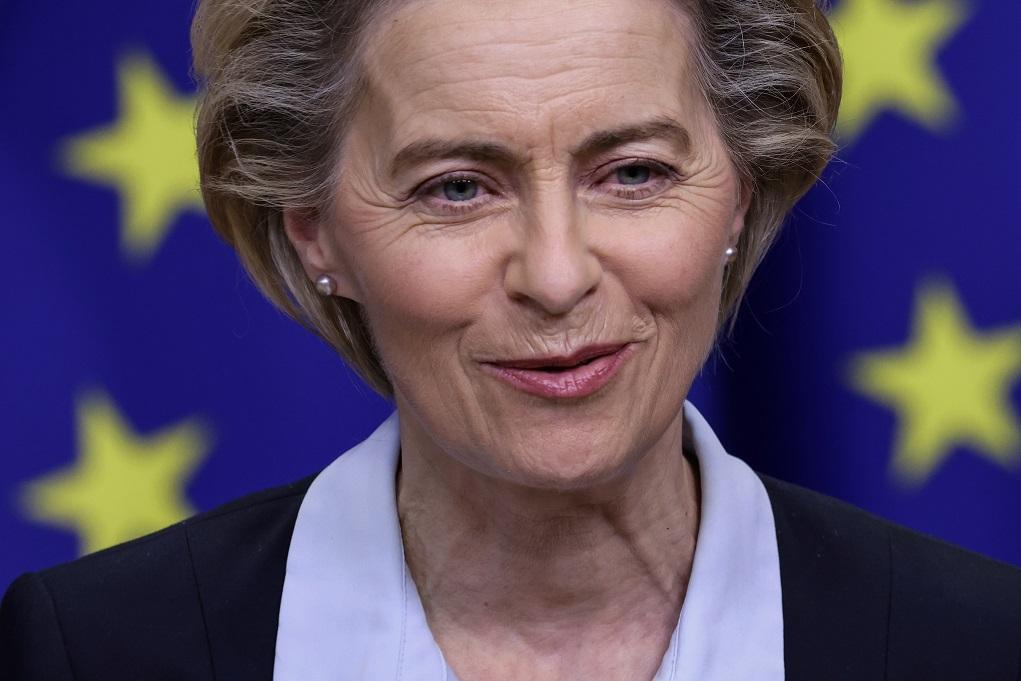Θετική η Ούρσουλα φον ντερ Λάιεν στην πρόταση Μητσοτάκη για το ευρωπαϊκό πιστοποιητικό εμβολιασμού